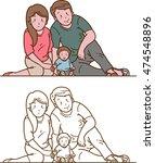 small family   Shutterstock .eps vector #474548896