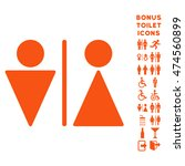 wc persons icon and bonus man... | Shutterstock .eps vector #474560899