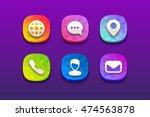 fresh modern flat multicolor... | Shutterstock .eps vector #474563878