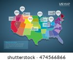 us map infographics design... | Shutterstock .eps vector #474566866