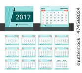 desk calendar 2017 for... | Shutterstock .eps vector #474568024