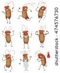 vector set of cartoon images of ... | Shutterstock .eps vector #474576730