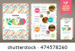 cute colorful kids meal menu... | Shutterstock .eps vector #474578260
