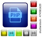 set of php file format color... | Shutterstock .eps vector #474581620