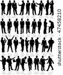 large group of smart men  ... | Shutterstock .eps vector #47458210