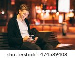 Smiling Guy Reading Message On...