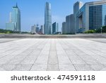 empty brick floor with city... | Shutterstock . vector #474591118