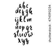hand written latin alphabet.... | Shutterstock .eps vector #474593254
