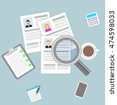 cv resume concept of job... | Shutterstock .eps vector #474598033