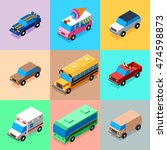 vehicles bright colors icons... | Shutterstock .eps vector #474598873