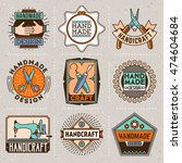 handicraft and diy insignias... | Shutterstock .eps vector #474604684