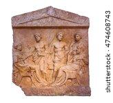 marble greek grave stele found...   Shutterstock . vector #474608743