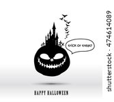 halloween layout design cover... | Shutterstock .eps vector #474614089