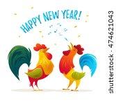 new year congratulation design. ... | Shutterstock . vector #474621043