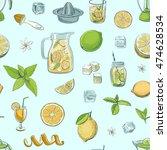 seamless vector pattern... | Shutterstock .eps vector #474628534