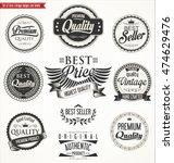 premium quality retro vintage... | Shutterstock .eps vector #474629476