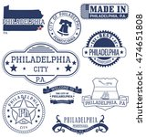 philadelphia city  pennsylvania.... | Shutterstock .eps vector #474651808