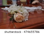 wedding rings on a flower | Shutterstock . vector #474655786