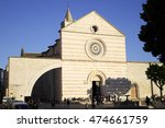 basilica of st. clare of assisi ... | Shutterstock . vector #474661759