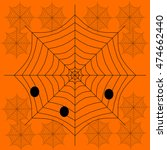 background with spiders and web | Shutterstock .eps vector #474662440