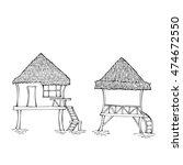 Southern Huts.sketches Black...