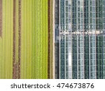 aerial agricultural view of... | Shutterstock . vector #474673876