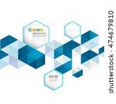 abstract geometric modern... | Shutterstock .eps vector #474679810