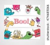 design of brochure with... | Shutterstock . vector #474685066