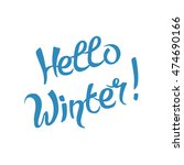 vector hello winter ... | Shutterstock .eps vector #474690166