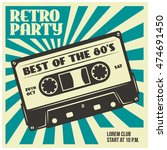 retro party advertising with... | Shutterstock .eps vector #474691450
