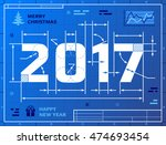 card of new year 2017 as... | Shutterstock .eps vector #474693454