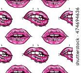 vector hand painted seamless...   Shutterstock .eps vector #474694636