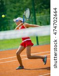 young and beautiful tennis... | Shutterstock . vector #474702664