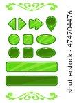cute green vector game user...