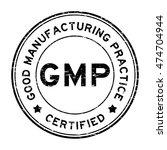grunge black gmp certified... | Shutterstock .eps vector #474704944