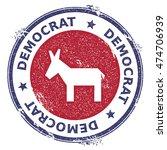 grunge broken democrat donkeys... | Shutterstock .eps vector #474706939