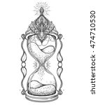 decorative  antique hourglass... | Shutterstock .eps vector #474710530