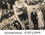 A Collage Of Vintage Photo Of...