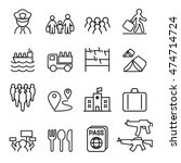 refugee   immigrant icons set... | Shutterstock .eps vector #474714724