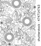 bible coloring page | Shutterstock .eps vector #474714763
