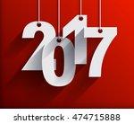 2017 white paper origami card...   Shutterstock .eps vector #474715888