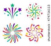 festive firework bursting shape ... | Shutterstock .eps vector #474716113