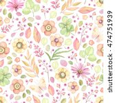 seamless rustic pattern with...