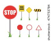 road signs set . | Shutterstock .eps vector #474753784
