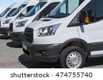 number of new white minibuses... | Shutterstock . vector #474755740