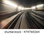 fast underground train riding... | Shutterstock . vector #474760264