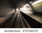 fast underground train riding... | Shutterstock . vector #474760270