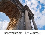 classical temple and fast clouds | Shutterstock . vector #474760963