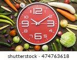 food clock. healthy food... | Shutterstock . vector #474763618