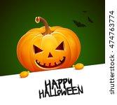 halloween pumpkin head jack... | Shutterstock .eps vector #474763774